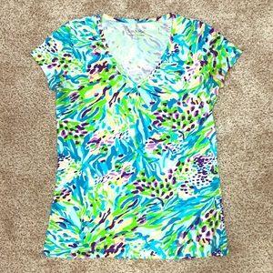 Lily Pulitzer Vee Neck T-shirt